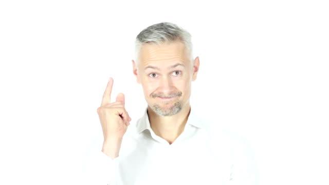New Idea , Businessman On Whitebackground , Brain storming video