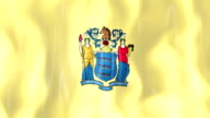 New Jersey State Flag Animation video