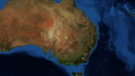NSW - New South Wales Australia from space - zoom video