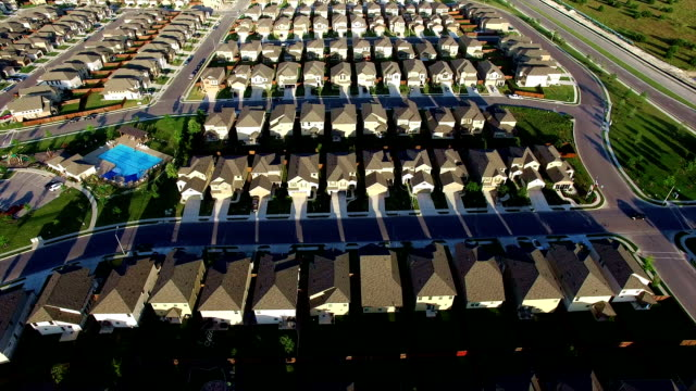 New Suburb Outside of Austin Texas near Round Rock aerial house after house after house video