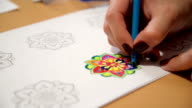 A new way to relieve stress-mandala video