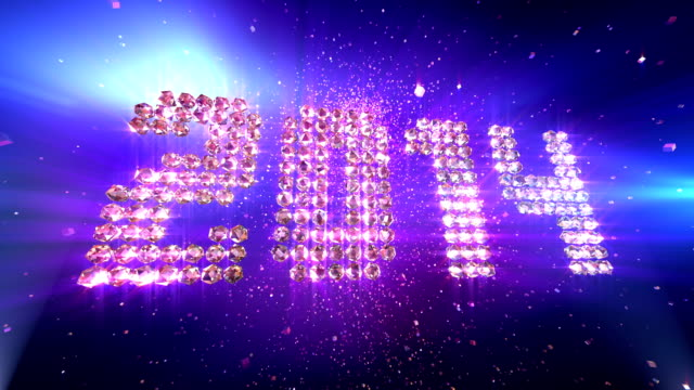 HD: New Year 2014 Background Animation video
