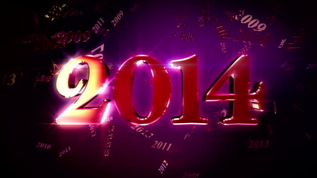 HD: New Year 2014 Lopable Background video