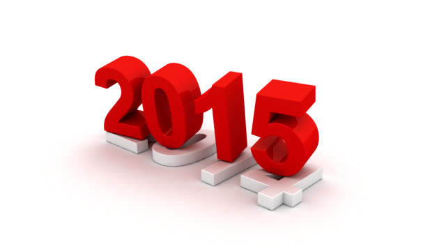 New year 2015 3d animation video