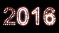 New Year 2016 animated lights video