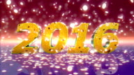 HD: New Year 2016 Animation video