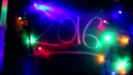 New Year 2016, Christmas Lights, Moving Blackboard video