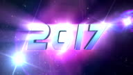 HD: New Year 2017 background Animation video