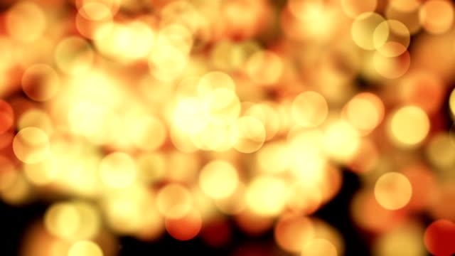 new year 2017 greeting glowing orange particles loop video
