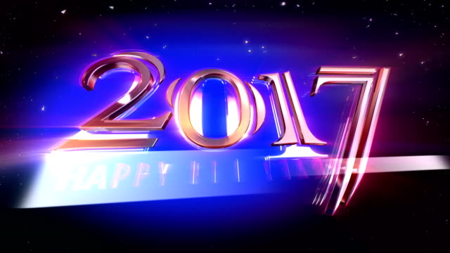 HD: New Year 2017 opening Animation video