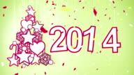 new year celebration 2014 loop video