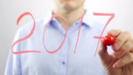 2017 New Year concept. video