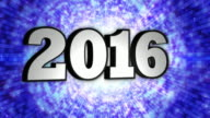 2016, New Year, Disco Dance Tunnel, Rotation Text, Loop, 4k video