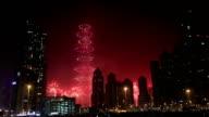 new year fireworks show at Burj khalifa in Dubai video