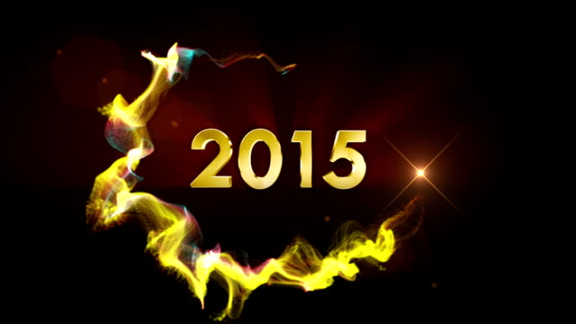 2015 New Year in Particles Ring video