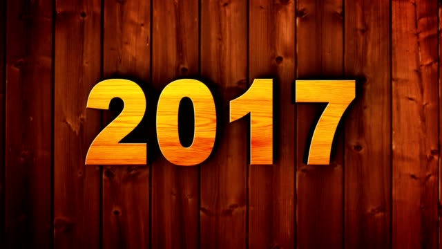 2017, New Year Numbers Animation Background, Loop video