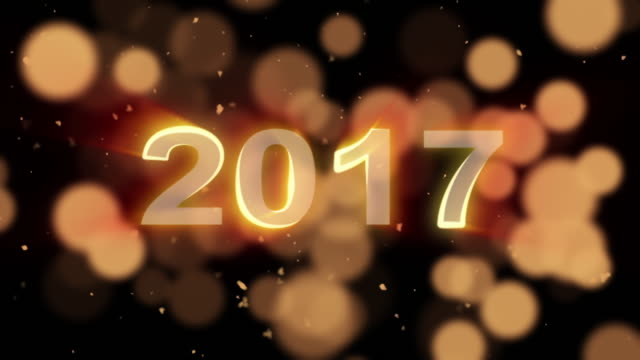 new year particle animation,2017 video