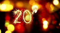 2016 new year sparkler greeting video