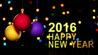 New Year,Christmas,3d winter background,2016 video