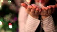 New year's confetti,close up video