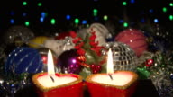 New Years Eve and Christmas decoration video