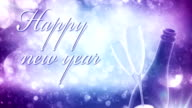 New Years Eve background (purple, with text) - Loop video