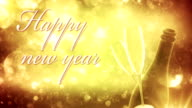 New Years Eve background (golden, with text) - Loop video