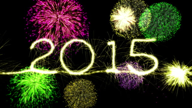 New Year's Eve Sparkler Countdown to 2015. Last 6 seconds is a loop. video