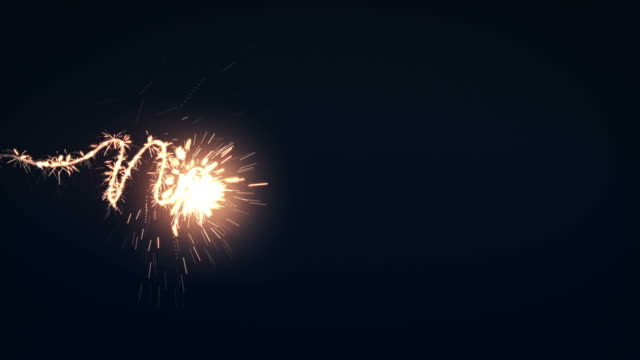 New years sparkler video