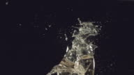 New Year's toast with glass breaking video