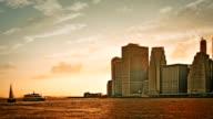 New York at sunset video