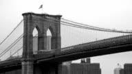 New York - Brooklyn Bridge and Lower Manhattan video