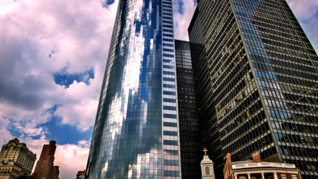 New York - business and church. video