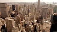 New York City Aerial Skyline video