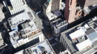 New York City aerial view time lapse traffic video