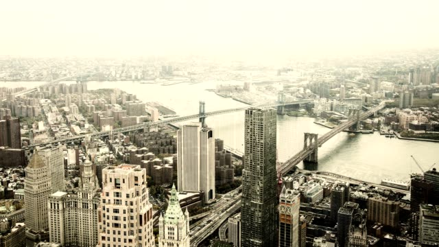 New York City as seen from high above.  Aerial View. video