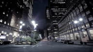 New York city at Night on 5th Avenue video