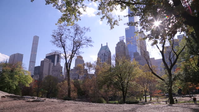 New York City Central Park in fall video