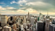 New York City Day to Sunset video