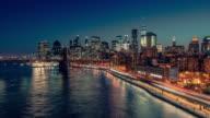 New York City from Manhattan Bridge video