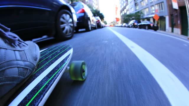 New York city long-boarding video