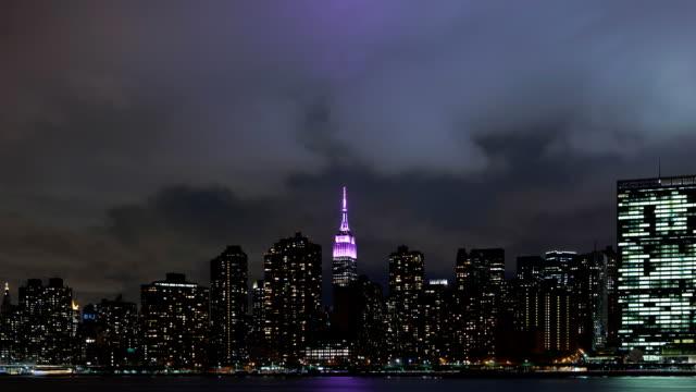 New York City Manhattan Skyline Clouds video