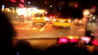 New York City Night Taxi Ride video