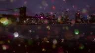 New York City skyline colored snow glitter happy new year video
