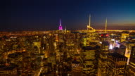 New York City skyline in the night time video