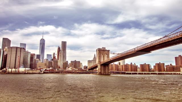 New York City Skyline with Bridge video