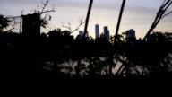 New York City sunset establishing dolly shot video