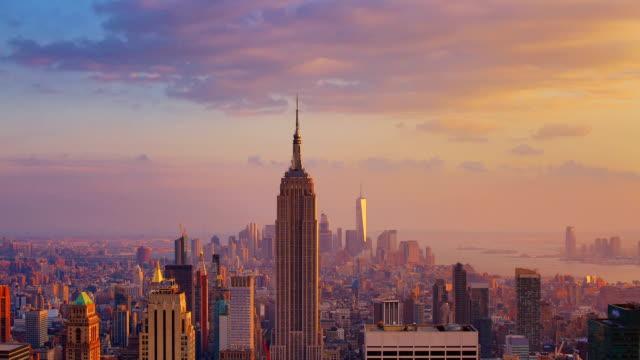 New York City: Sunset (day to night) video