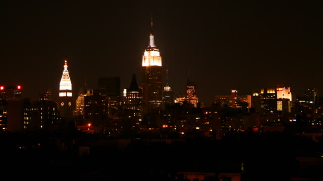 New York City time lapse DUSK TO DAWN video