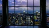 New York City Window View video